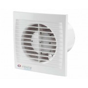 Vents 125 Silenta-STL Alacsony Zajszintű és Energiafogyasztású Ventilátor Lapos Előlappal Időkapcsolóval és Golyóscsapággyal