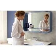 Etajera cu oglinda 80 cm negru Ideal Standard gama DEA
