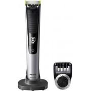 Aparat hibrid de barbierit si tuns barba Philips OneBlade Pro QP6520 20 Pieptene de precizie cu 12 lungimi Stand Husa Acumulatori Negru
