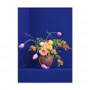 Paper Collective - Blomst, 50 x 70 cm, blau