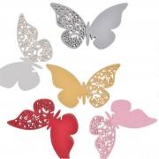 Lote de 12 mariposas para copas identificadores de mesa