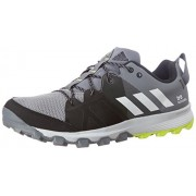 adidas Men's Kanadia 8 Tr M Grey, Ftwwht and Syello Running Shoes - 10 UK/India (44.7 EU)