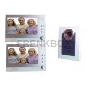 Videocitofono interfono 2 monitor LCD FOTO RECORDER DVR registratore immagini