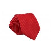 Pánská červená slim kravata se vzorem - 6 cm