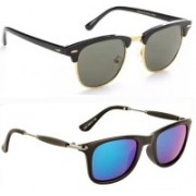 SRPM Clubmaster, Wayfarer Sunglasses(Green)