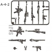 Generic Guns Weapon Pack Military Swat Team Building Blocks City Polices Soldiers Figure LegoINGlys Military Army Builder Series Toy Light Grey