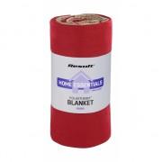 Luxe rode fleece deken / plaid