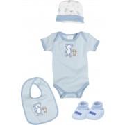 Подарочный набор для новорожденного голубой