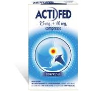 Johnson & Johnson Spa Actifed 2,5 Mg + 60 Mg Compresse 12 Compresse