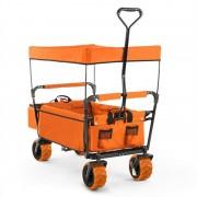 Waldbeck оранжева, ръчна количка, сгъваема, 68 kg,, колело Ø10 cm, сенник (WGOTheOrangeSuprem)