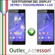 Cambio Sostituzione Display Rotto Sony Xperia Z3 D6603 Cornice Schermo Vetro Touch Lcd Assemblaggio