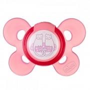 Suzeta Chicco silicon Physio Comfort forma ortodontica 6-12 luni roz