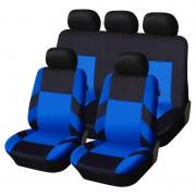Univerzális üléshuzat garnitúra fekete-kék (osztható) Exlusive