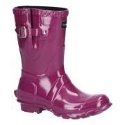 Cotswold Windsor Gloss Short Wellington Boot - Purple - Size: 3