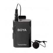 BOYA VHF Trådlös lavendelmikrofon, realtidsövervakning, svart