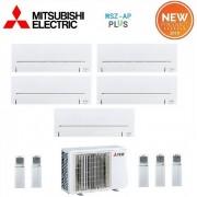 Mitsubishi Climatizzatore Condizionatore Mitsubishi Electric Penta Split Inverter Serie Ap 9+9+9+12+12 Con Mxz-5e102va