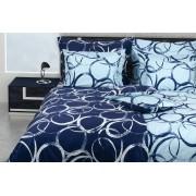 1 Glamonde Povlečení kruhy Peppy modrá 70×90 cm 140×200 cm zipové