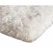 Covor plusat pentru interior cu izolare termica in partea inferioara, culoare Alb, dimensiuni 60 x 90 cm