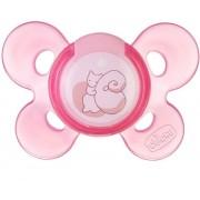 Suzeta Chicco silicon Physio Comfort forma ortodontica 0-6 luni roz