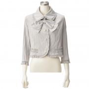 priere リボン付きプリーツフリルジャケット【QVC】40代・50代レディースファッション