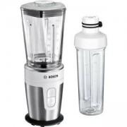 Универсален блендер Bosch, Стъклена кана, 350 W, Вместимост 0.600 л. включена бутилка за път, сребрист, MMBM7G2M