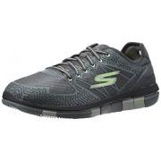 Skechers Men's Go Walk Flex Charcoal and Lime Nordic Walking Shoes - 8 UK/India (42 EU)(9 US)