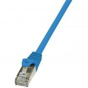 Cablu F/UTP Logilink EconLine Patchcord Cat 6 1m Albastru