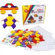 Joc de inteligenta Puzzle Tangram 125 piese