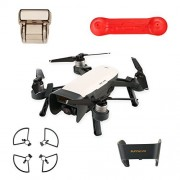 UZOPI DJI Spark Accessories Set Bundle Combo, Propeller Guards w/ Landing Gear, Lens Cap Hood Sun Shade Camera Cover Protector, Remote Control Transmitter Guard Rocker Joystick Protector