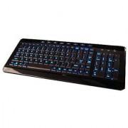 Azend Group W-9868BL USB Backlit Blue LED Multimedia Keyboard (Piano Black)