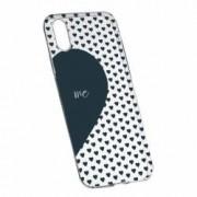 Husa Silicon Transparent Slim Love Me + You 100 Apple iPhone X