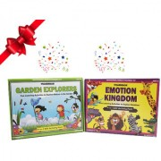 WondrBox educational gift set-pack of 2 learning games 8 DIY activities included for age 3 year old boy and girl
