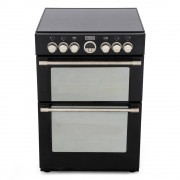 Stoves Sterling 600E Black Ceramic Electric Cooker with Double Oven