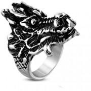 Inel Biker din inox cu dragon - Be Fantastic