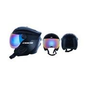 Dirty Dog APACHE Ski Helmet with Visor - Shiny Black