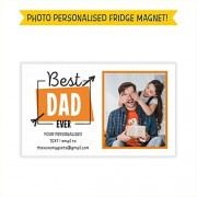 MFM Toys Personalised Father's Day Fridge Magnet (5x3 inches) (Best Dad Ever)