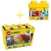 Комплект конструктори Лего Класик - Голяма творческа кутия за блокчета 10698 + Творчески блокчета 10692, LEGO CLASSIC