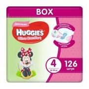 Huggies Подгузники Ultra Comfort Disney Box для девочек 4 (8-14 кг) 126 шт.