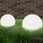 vidaXL LED kuglasta svjetiljka 2 kom 25 cm PMMA