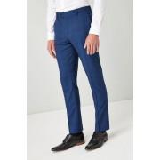 Next Slim Fit Check Suit: Trouser - Bright Blue - Mens Trousers