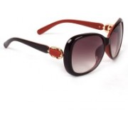 Eyeland Rectangular, Oval Sunglasses(Red, Violet, Clear)