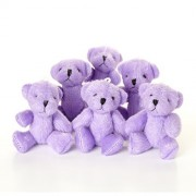 London Teddy Bears New Cute and Cuddly Little Purple Bear X 10 - Gift Present Birthday Xmas