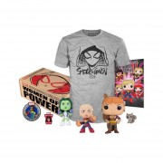 Funko Pop Caja De Women Of Power Marvel Squirrel Girl Chica Ardilla Captain Marvel She-Hulk Parche Pin Playera Mediana Comic Dorbz-Multicolor
