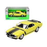 Welly - 1/24 Ford Mustang Boss 302 (1970) Yellow