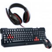 Komplet 3u1 miš,slušalice,tastatura USB YU Genius KMH-200
