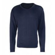 Men´s V-neck Knitted Sweater Navy