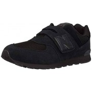 New Balance Boys 574v1 Hook and Loop Sneaker, Black/Black, 5.5 M US Infant (0-12 Months)