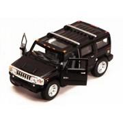 2008 Hummer H2 SUV, Black - Kinsmart 5337D - 1/40 scale Diecast Model Toy Car