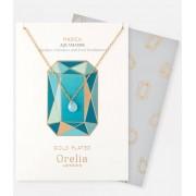 Orelia Kettingen March Birthstone Gift Envelope Goudkleurig