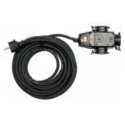 YATO Elektromos hosszabbító 3-as elosztóval IP44 3g1,5 - 10 m